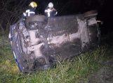 Automobiliu nulėkus į griovį, dvi moterys ir du vaikai pateko į ligoninę