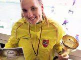 Gintarė Paulauskaitė karjerą grindžia aukso medaliais