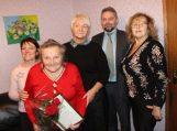 90-ojo jubiliejaus proga pasveikinta Teklė Cirtautienė
