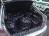 Įtartinai automobiliu manevruojantis vyras, bagažinėje neteisėtai gabeno cigaretes