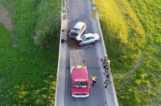 Ant K.Griniaus tilto susidūrė du automobiliai