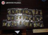 Pareigūnams įkliuvo narkotinių medžiagų platintojai