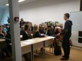 Mokinių Tarybos susitikimas su Lietuvos Mokinių sąjungos atstovu