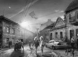 """Bibliotekoje – Augustino Našlėno fotomontažų parodos """"Rekviem posovietiniam sapnui"""" pristatymas"""
