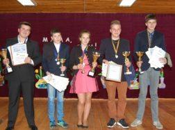 Geriausių Vilkyčių pagrindinės mokyklos sportininkų apdovanojimai