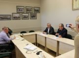Spaudos konferencijoje Savivaldybės vadovai pristatė lapkričio mėnesio veiklą