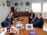 Šilutėje apsilankė Žemės ūkio ministras Giedrius Surplys