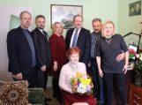 Emilija Baikauskienė sulaukė sveikinimų 95-ojo jubiliejaus proga