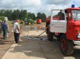 Pagėgių savivaldybės ūkininkai supažindinami su gaisrine technika ir įranga