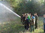 Apskrities jaunieji šauliai supažindinti su ugniagesio gelbėtojo profesija