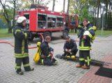 Pagėgių savivaldybės  savanoriai ugniagesiai dalyvavo gelbėjimo darbe ir pratybose