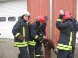 Gimnazistai supažindinti su ugniagesio gelbėtojo profesija