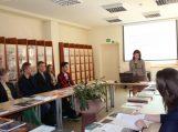 Gimnazistai dalyvavo Vilniaus universiteto keliaujančio žinių ir karjeros knygynėlio sutiktuvėse