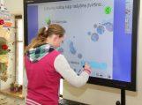 Interaktyvioje pamokoje mokiniai pasisėmė žinių apie kalbos raidą