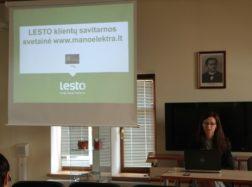 Bibliotekoje pristatyta LESTO klientų savitarnos svetainė