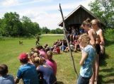 Pasieniečiai lankėsi moksleivių vasaros stovykloje