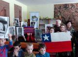 Žinia apie Rusnės mokyklą Ramiojo vandenyno pakrantėje