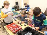 Viešojoje bibliotekoje vaikai dalyvavo robotikos čempionate