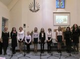 Mokinių ir mokytojų vokalinis ansamblis dalyvavo giesmių konkurse