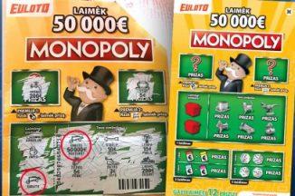 Pavogti momentiniai loterijos bilietai