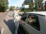 Tauragėje policijos pareigūnai tęsia prevencines eismo saugumo kontrolės priemones