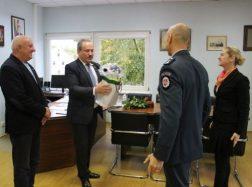 Policijos atstovai pasveikino savivaldybės vadovus