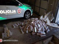 Laikė cigaretes savo reikmėms, bet įkliuvo policijos pareigūnams