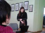 Agnė Girulytė pristatė savo grafikos darbų parodą