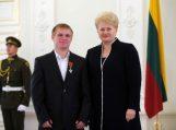 Olimpiečiai apdovanoti už nuopelnus Lietuvai