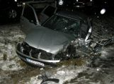 Susidūrus trims automobiliams nukentėjo trys žmonės (papildyta)
