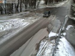 Kelyje Šilutė–Rusnė 9 cm vandens, eismas leidžiamas