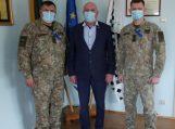 """Savivaldybėje apsilankė Motorizuotos pėstininkų brigados """"Žemaitija"""" vadas"""