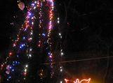 Rusnėje įžiebta Kalėdų eglė