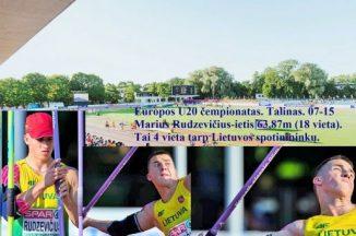 Taline vyko jaunimo U20 Europos čempionatas