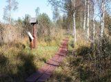 Nemuno deltos regioniniame parke suniokoti stendai