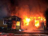 Laukstėnuose sudegė gyvenamas namas