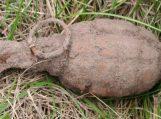Rusnėje rasta granata sunaikinta vietoje