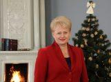 Prezidentės D.Grybauskaitės sveikinimas Lietuvos žmonėms Naujųjų metų proga