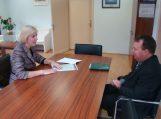 Merė susitiko su policijos komisaru