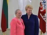 M. Drobnienei Prezidentės apdovanojimas