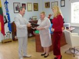 Meras susitiko su Klaipėdos valstybinės kolegijos direktore