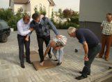 Olimpiečio Romo Ubarto pėdsakas papildys pėdų antspaudų alėją