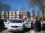 Saugaus eismo dieną Šilutės pareigūnai susitiko su mažiausiais eismo dalyviais