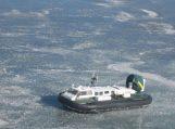 Trys lietuviai Kuršių marių ledu įvažiavo į Rusiją