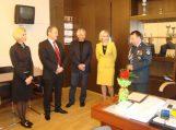 Merė Policijos dienos proga pasveikino Šilutės rajono policijos komisariato viršininką