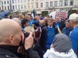 Savivaldybės meras, europarlamentaras ir net prezidentas palaikė ūkininkų interesus Briuselyje vykusiame pikete