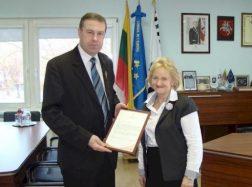 Ministro padėkos Šilutės merui ir senelių globos namų direktorei