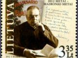 Išleidžiamas pašto ženklas Maironiui