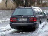 Kelyje į Rusnę 18 cm vandens