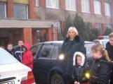 Vaikai svečiavosi saugaus eismo klasėje